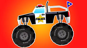 monster trucks kids video police monster truck car wash video toy police cars u0026 trucks
