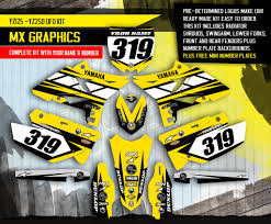 yz250 graphics decals emblems ebay