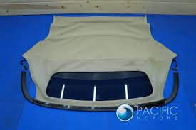 jaguar back convertible roof interior ceiling headliner back window canvas