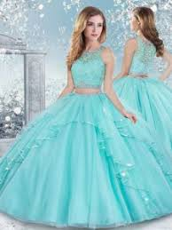 quinceanera dresses aqua floor length clasp handle 15th birthday dress aqua blue for