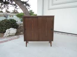 Reclaimed Wood Bar Cabinet Furniture Brown Varnished Rosewood Mid Century Modern Bar Cabinet