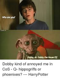 Who Are You Meme - who are you tloawiiig dobby sir dabby the house elf dobby kind of