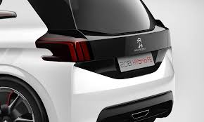 peugeot 208 trunk peugeot 208 hybrid fe concept revealed 2 1 l 100km 0 to 100 km h