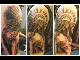 christian sleeve tattoos for men images u0026 pictures becuo face