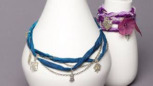 ribbon necklace making images Chain and ribbon wrap necklace with charms facet jewelry making jpg
