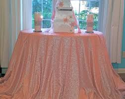 pink round table covers blush tablecloth etsy