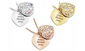 custom engraved heart necklace custom engraved heart pendants jewells house groupon