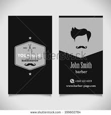 hair salon barber shop business card stock vector 199602692