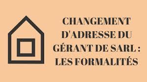 changement adresse siege social modification de sarl eurl toutes les modifications statutaires