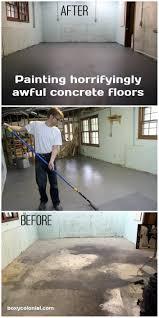 Industrial Concrete Floor Paint Undisgusting Painted Basement Floor