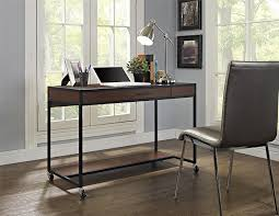 Computer Desk With Wheels Amazon Com Altra Mason Ridge Mobile Desk With Metal Frame Cherry