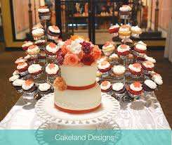 wedding cake and cupcakes wedding cake cupcake tree cakeland designs