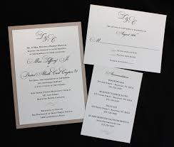 formal wedding invitations chagne black monogram scroll formal wedding