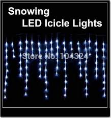 cheap lights 100 led snowing icicle lights curtain lights for