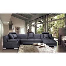 vente de canape canapé d angle capitonné cuir noir méridienne napoli achat
