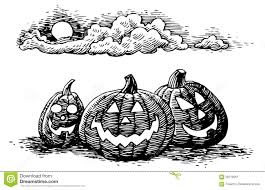 hand drawn halloween jack o lanterns stock vector image 58719251