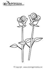 rose coloring page a free coloring printable