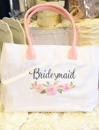 bridesmaid gift bag watercolor floral bridesmaid tote bag i do boutique cypress tx