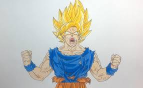 drawing goku super saiyan ssj dragon ball frieza saga