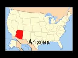 map of the united states with arizona highlighted each state in this printable us map is numbered in the order