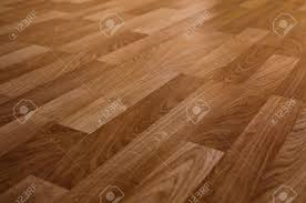 Brown Laminate Flooring The Floor Of The Light Brown Laminate Diagonally Stock Photo