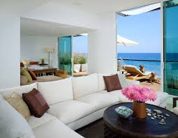 glamorous living room beach house deco combine graceful white