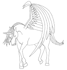 wonderful unicorn with wings coloring pages aw 3132 unknown
