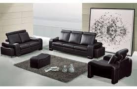 Contemporary Black Leather Sofa Orion Modern Black Leather Sofa Set