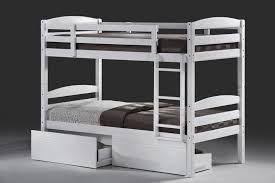 Cosmos White Single Bunk Beds With  Storage Drawers - King single bunk beds