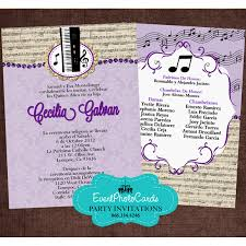 quinceanera party invitations change colors buy our quinceanera invites music band quinceanera