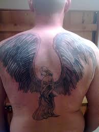 25 holy angel tattoos for men