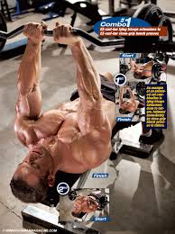 Close Grip Bench Bodybuilding Get Great Guns With Extended Sets U2013 Combo 1 Iron Man Magazine