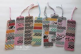 doodlecraft washi tape bookmarks