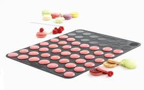 silicone cuisine plaque à macarons mastrad 53 empreintes coques petits macarons