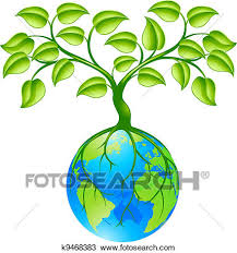 clipart of planet earth globe with tree k9468383 search clip