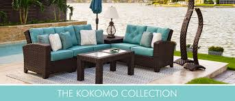 outdoor living room sets leader s casual furniture wicker rattan and patio furniture and decor