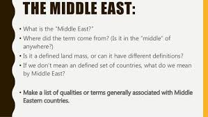 intro to the middle east
