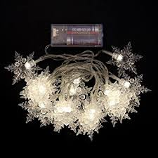 how many feet of christmas lights for 7 foot tree amazon com string light woopower 20 led snowflake fairy light