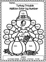 turkey trouble common activity set turkey trouble color by
