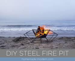Welded Fire Pit Homemade Modern Ep116 Diy Steel Fire Pit
