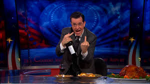 speech on thanksgiving guess who u0027s coming to thanksgiving dinner the colbert report