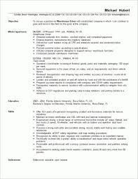 Warehouse Packer Resume Warehouse Resume Examples Resume Examples For Warehouse Sample