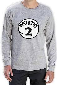 Halloween Shirt Costume by Weirdo 2 Costume Long Sleeve T Shirt Halloween Weirdo 1 2 Thing