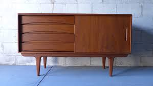 furniture mahogany wooden mid century modern sideboard with three