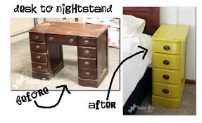 repurposing furniture nightstands from a desk sugar bee crafts