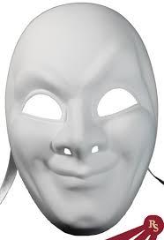 plain mask plain white arts and crafts venetian mask