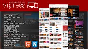 vipress blog magazine and video wordpress theme themes