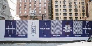 absolut reintroduces itself to new yorkers with out of home work