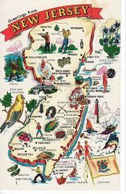 State Of New Jersey Map by Map On Postcard U2013 New Jersey Usa Chroniclesofemilia