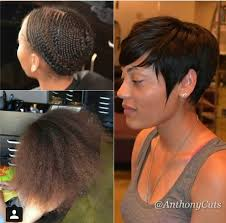 pixie hair do in twist pixie cut sew in put all that hair away to a flat foundation